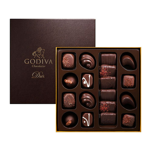 Шоколадные конфеты Godiva Connoisseur Dark 18шт GODIVA