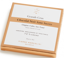 Шоколад без сахара плиточный, темный Sugar-free dark chocolate tablet PIERRE MARCOLINI, 70гр