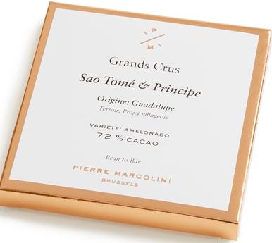 Шоколад плиточный, темный Sao Tome & Principe tablet PIERRE MARCOLINI, 70гр