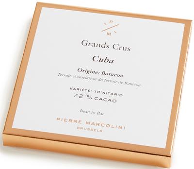 Шоколад плиточный, темный Cuba tablet PIERRE MARCOLINI, 70гр