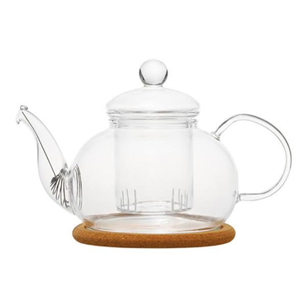 """Стеклянный заварочный чайник """"Орхидея"""", 800 мл"""
