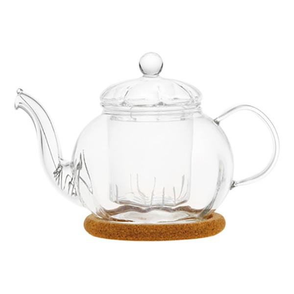 Стеклянный заварочный чайник Фиалка, 350 мл