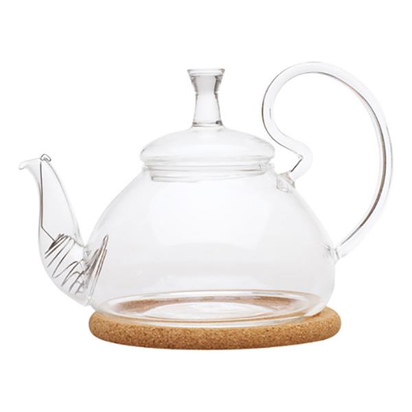 """Стеклянный заварочный чайник """"Георгин средний"""", 600 мл"""