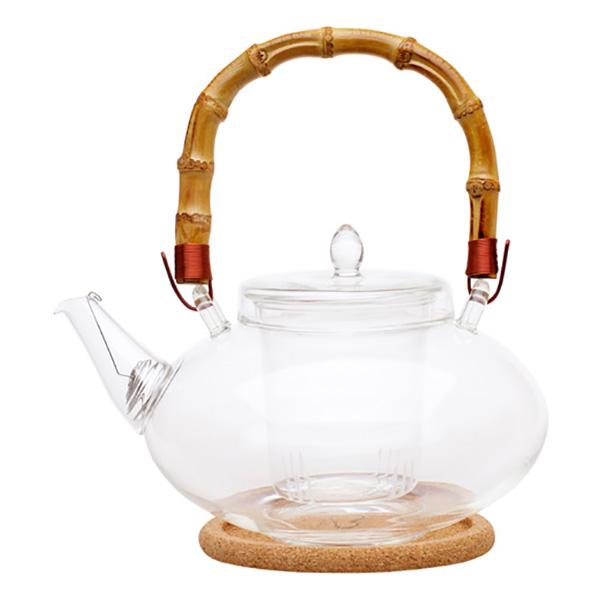 """Стеклянный заварочный чайник """"Душистая кувшинка"""", 1000 мл"""