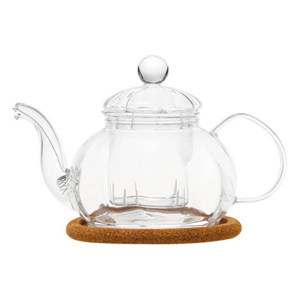 """Стеклянный заварочный чайник """"Камелия"""", 470 мл"""