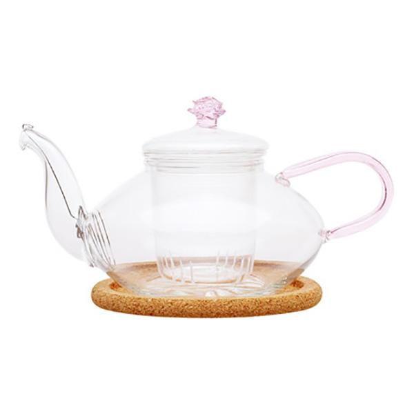 """Стеклянный заварочный чайник """"Миндаль низкий"""", 450 мл"""