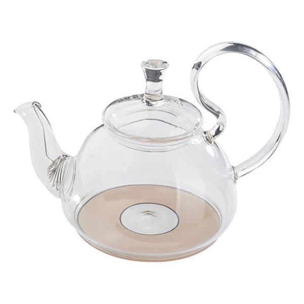 Стеклянный заварочный чайник Георгин для индукционных плит, 800 мл