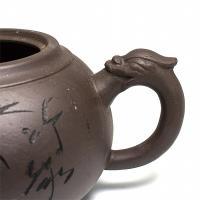 Глиняный чайник Бронзовая колесница, 350 мл_2
