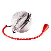 Шарик для заваривания чая с силиконовой ручкой 45 мм в п/у красный