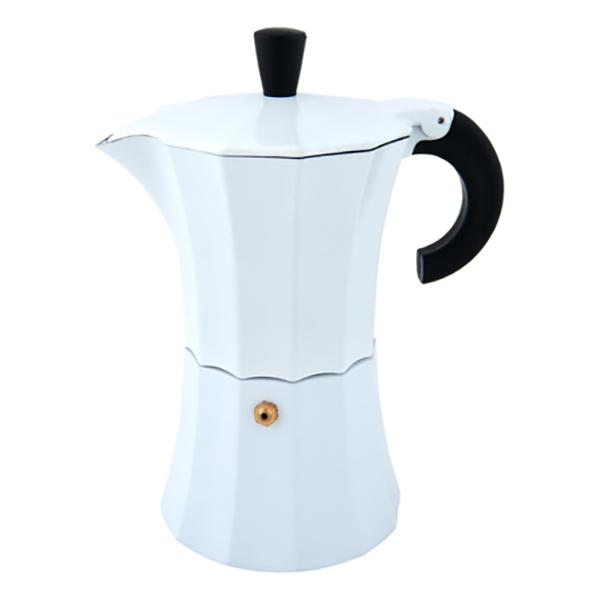 Гейзерная кофеварка Morosina белая, 150 мл (на 3 чашки)
