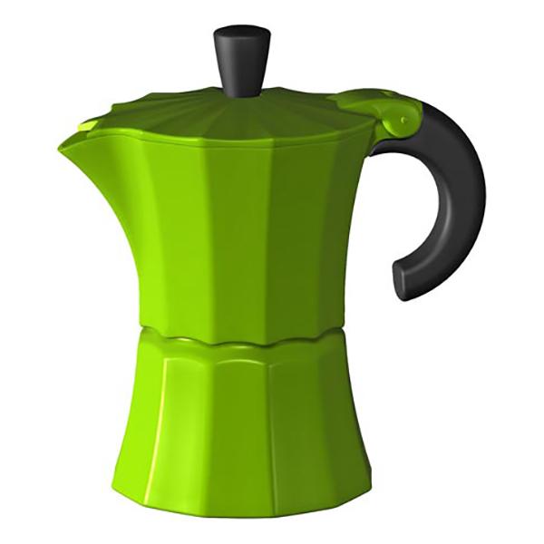 Гейзерная кофеварка Morosina зелёная, 150 мл (на 3 чашки)