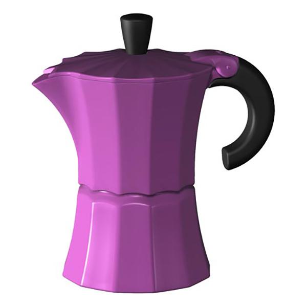 Гейзерная кофеварка Morosina фуксия, 150 мл (на 3 чашки)