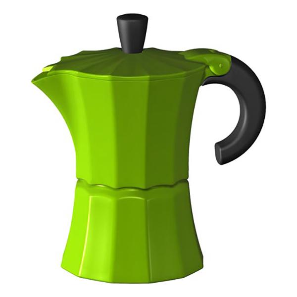 Гейзерная кофеварка Morosina зелёная, 300 мл (на 6 чашек)