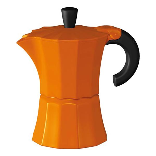 Гейзерная кофеварка Morosina оранжевая, 300 мл (на 6 чашек)