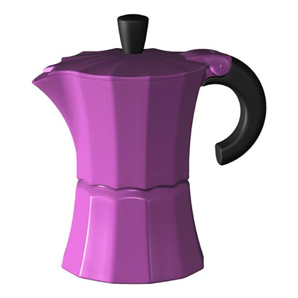 Гейзерная кофеварка Morosina фуксия, 300 мл (на 6 чашек)