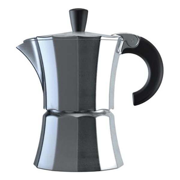 Гейзерная кофеварка Morosina алюминиевая, 150 мл (на 3 чашки)
