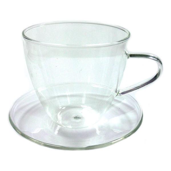 Чайная пара Стеклянный бутон, 200 мл