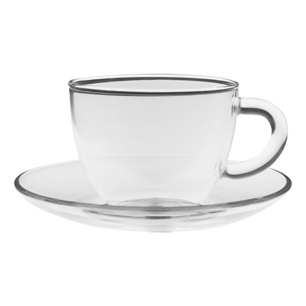 Чайная пара Стеклянный бутон, 150 мл