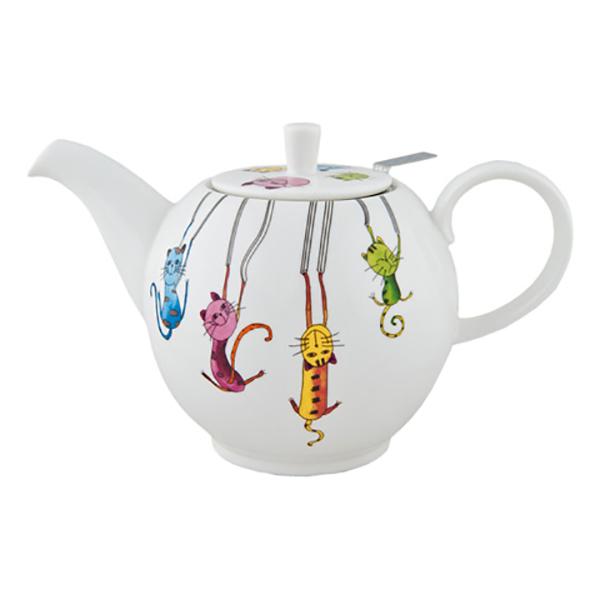 Фарфоровый заварочный чайник Паркур, 1000 мл