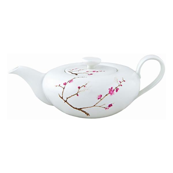 Фарфоровой заварочный чайник Цветущая сакура, 1000 мл