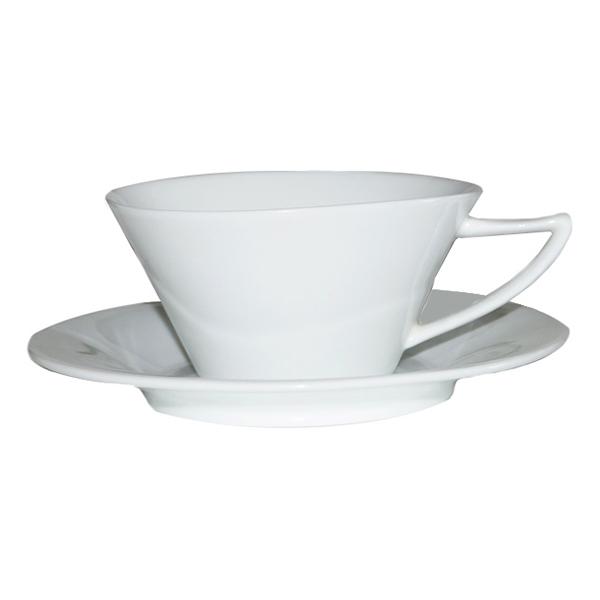 Фарфоровая чашка с блюдцем, 200 мл (6 шт.)