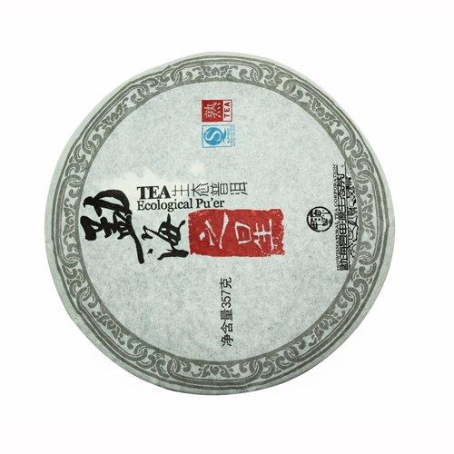 Шу Пуэр Органик, фабрика Ю Шень Юань, 2014 г., блин, 357 г