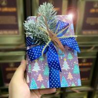 "Подарок новогодний книга-шкатулка ""Новогодние елочки"""
