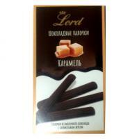 Палочки из молочного шоколада с карамельным вкусом 80 гр